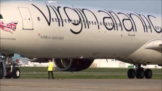 Virgin Atlantic Airbus 346 at Kansas City International Airport