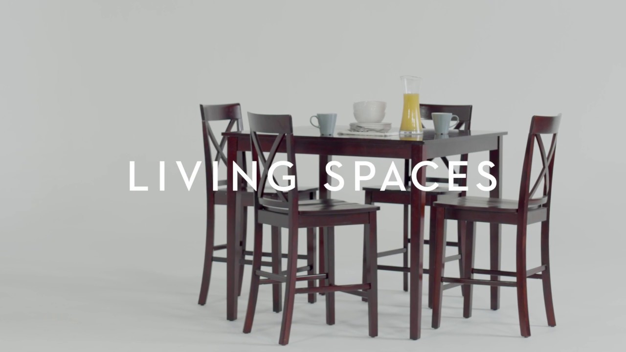 Pierce 5 Piece Counter Set | Living Spaces - YouTube
