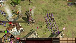 Age of Empires 3- What a comeback! - 3v3 - The struggle is real