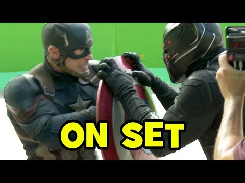 Go Behind The Scenes on CAPTAIN AMERICA CIVIL WAR (Movie B-Roll & Bloopers)