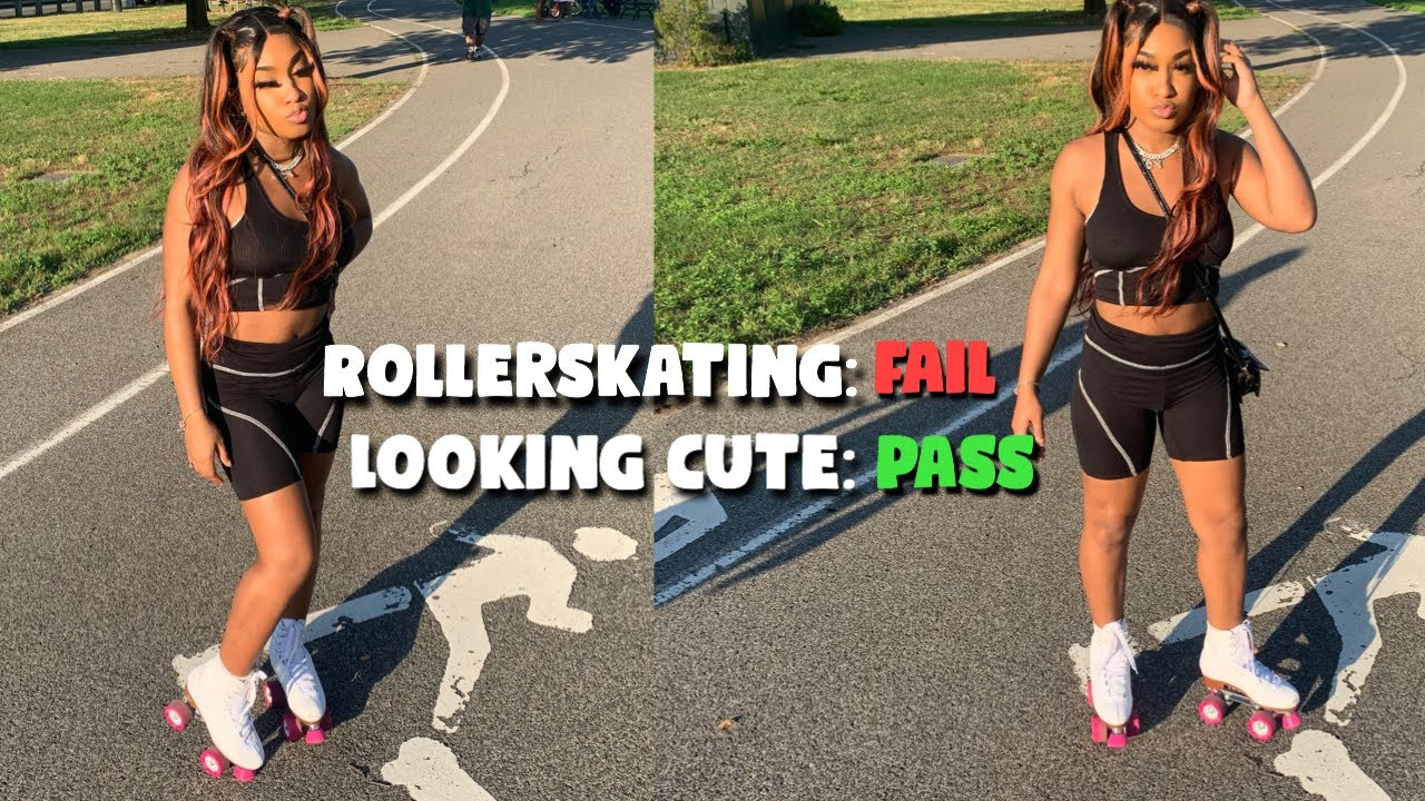 GRWM: ATTEMPTING TO ROLLER-SKATE FOR THE FIRST TIME! ( I FELL)
