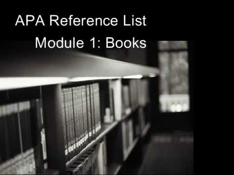 APA Book Citation Tutorial