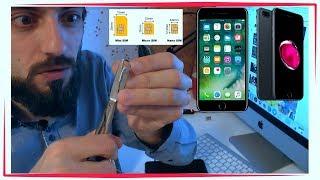 Как обрезать самому нано сим карту nanoSim nano sim дома  iphone 7/7 plus/6s/6s plus/6