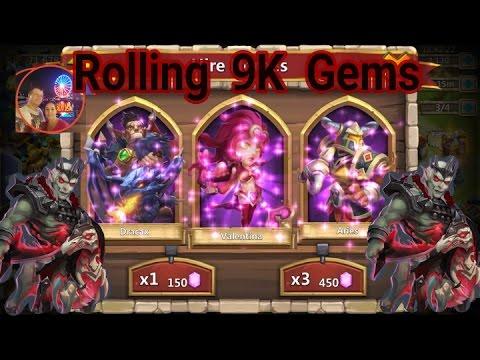 Castle Clash F2P 9K Gem Rolling For Revenant
