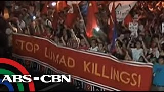 Bandila: UP community welcomes Lumad protesters