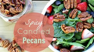 Spicy Candied Pecans | Gluten-free & Vegan Recipe