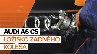 Pozrite si video sprievodcu ako vymeniť Lozisko kolesa na AUDI A6 Avant (4B5, C5)