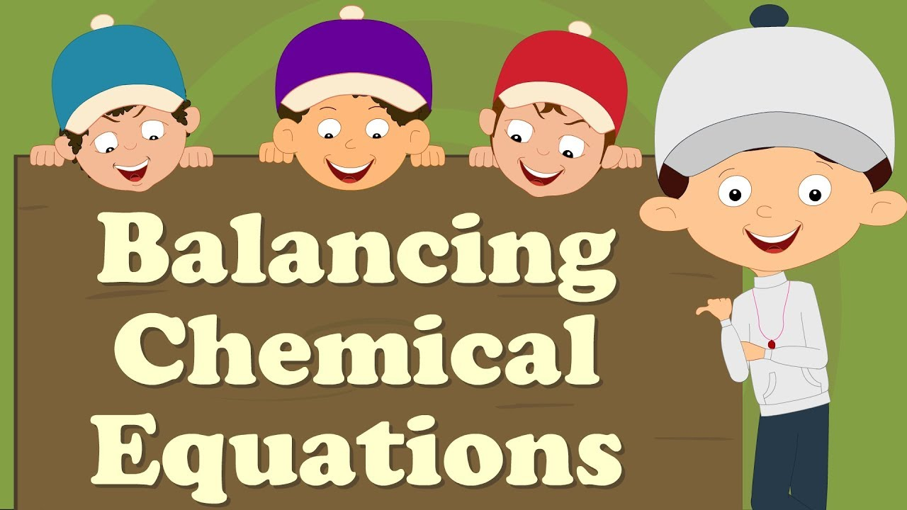balancing chemical equations for beginners | #aumsum #kids