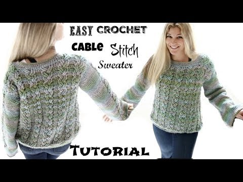 Easy Cable Stitch  sweater Tutorial