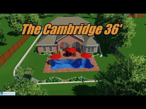 Pools Of Paradise - 3D Pool Design - The Cambridge 36'