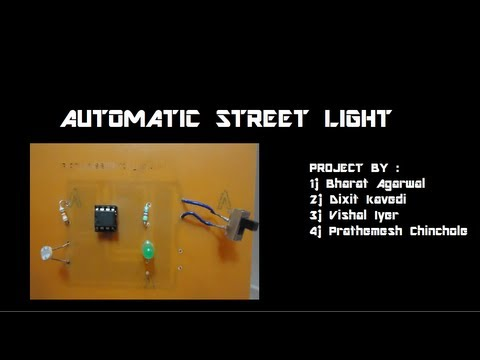 Watch additionally Led Glow Circuit likewise Sun Tracking Solar Panel further ImuQAU5zrko together with Street Lights That Glowing On Detecting The Vehicle Movement. on street lights that glow on detecting vehicle movement