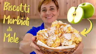 BISCOTTI MORBIDI ALLE MELE Ricetta Facile di Benedetta - Soft Apple Cookies Easy Recipe