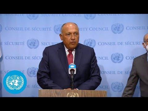Egypt on the Grand Ethiopian Renaissance Dam (GERD) - Media Stakeout (8 Jul 2021)