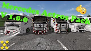 "[""Mercedes Actros Pack"", ""Mod Vorstellung Farming Simulator Ls17:Mercedes Actros Pack""]"