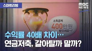 [스마트 리빙] 수익률 40배 차이…연금저축, 갈아탈까 말까? (2021.04.16/뉴스투데이/MBC)