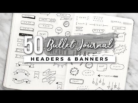50+ Bullet Journal Header & Banner Ideas!