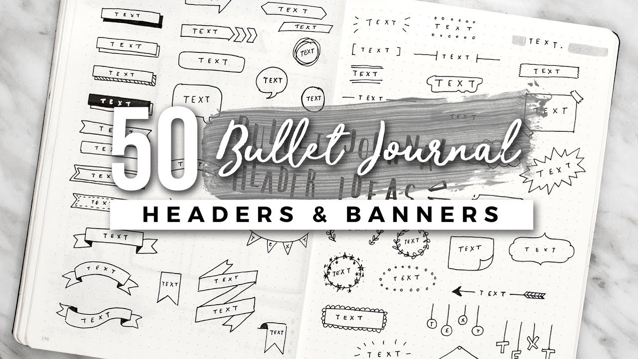 50 bullet journal header