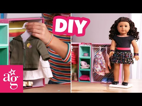Making A Perfect Closet For Your Mini-Me | Doll DIY | @American Girl