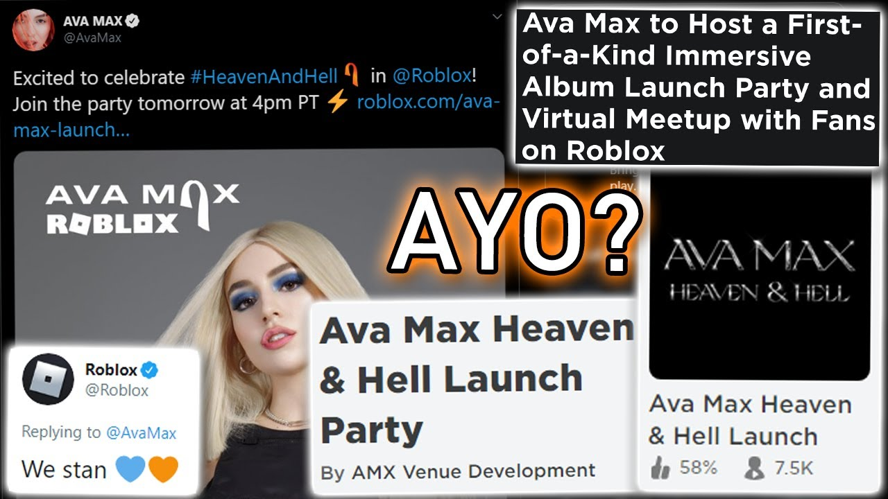 Ava Max is holding an album launch party inside Roblox