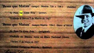 Carlos Gardel Ineditos 2 (Besos que Matan)