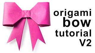 Origami - Paper Bow/Ribbon Tutorial Version 2 - DIY - Paper Kawaii