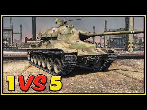 TVP T 50/51 - 11 Kills - 1 VS 5 - World of Tanks Gameplay