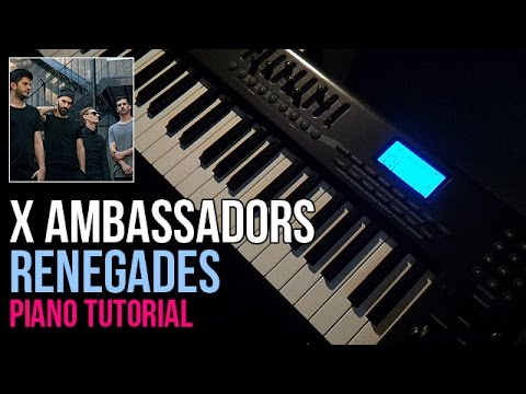 How To Play: X Ambassadors - Renegades (Piano Tutorial)