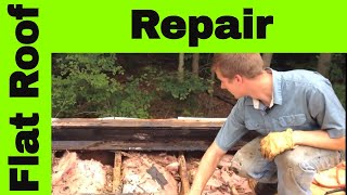 Flat Roof Repair Westport - Shocking Surprise After Walking On The Roof, It Was Collapsing