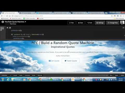 freeCodeCamp   Build a Random Quote Machine   Part 3