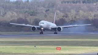 Emirates B777-300ER EK23 EDI 11-MAR-2019 [4K/UHD]
