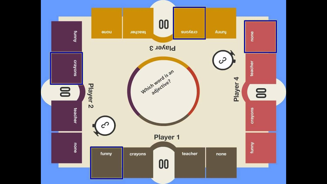 Grammer Board Quiz   Interactive Floor Games For Kids