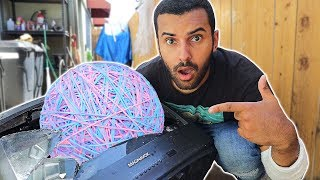 MOST DANGEROUS RUBBERBAND BALL EVER MADE!! (SCHOOL SUPPLY EDITION) *250 POUNDS!!*