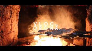 Vlog 숯가마 삼겹살먹기 | 장작타는 소리, 바베큐 …