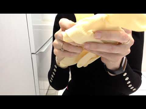 ASMR Mummy Wears Natural Latex Rubber Gloves Sounds No Talking Popping Relaxatio