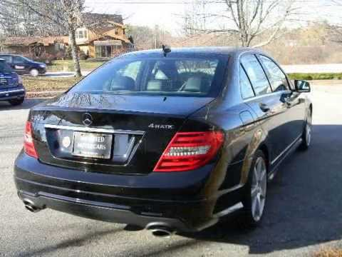 2012 mercedes benz c300 4matic sport auto black youtube. Black Bedroom Furniture Sets. Home Design Ideas