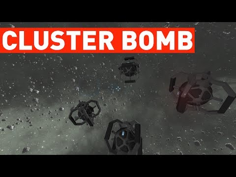 Cluster Bomb Testing! (Space Engineers)
