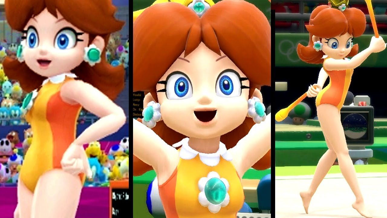 Mario and Sonic at the Olympic Games ALL GYMNASTICS SONGS with DAISY (Wii U)