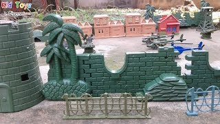 Toy Soldiers Army Men Base Watch Tower Headquarter Office And More Toy Channel