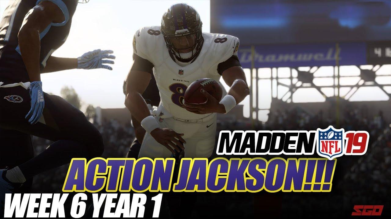 Madden 19 Connected Franchise   ACTION JACKSON!! Ravens vs Titans   Ep.6