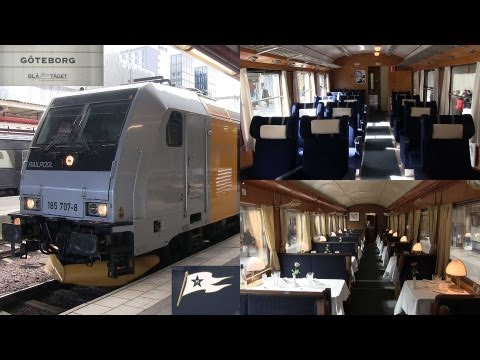 Blå Tåget Skandinaviska Jernbanor tåg i Stockholm