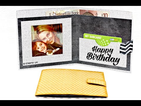 Fathers Day, how to make an easy paper wallet (Stampin' Up! supplies)