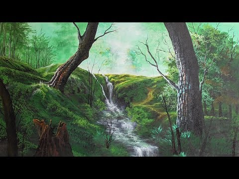 Transparency |acrylic landscape painting| paint with joy #29
