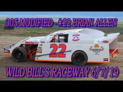 In Car - Rear Facing - 305 Mod - #22 Brian Allen - Wild Bill's Raceway 6/7/19