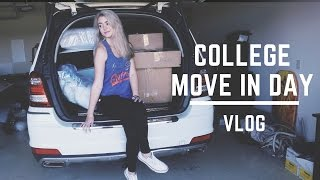 COLLEGE MOVE IN DAY VLOG: FRESHMAN EDITION