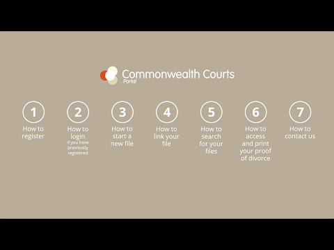 eFiling your family law matter in the Commonwealth Courts Portal