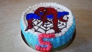 Шоколадный бисквитный торт с шоколадным кремом Торт на день рождения Украшение тортов кремом