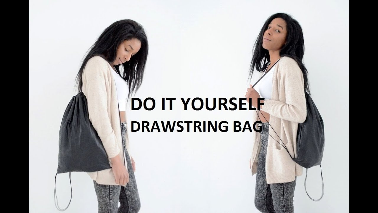 DIY ACCESSORY | HOW TO MAKE A DRAWSTRING BAG ( SCHOOL BACKPACK ...