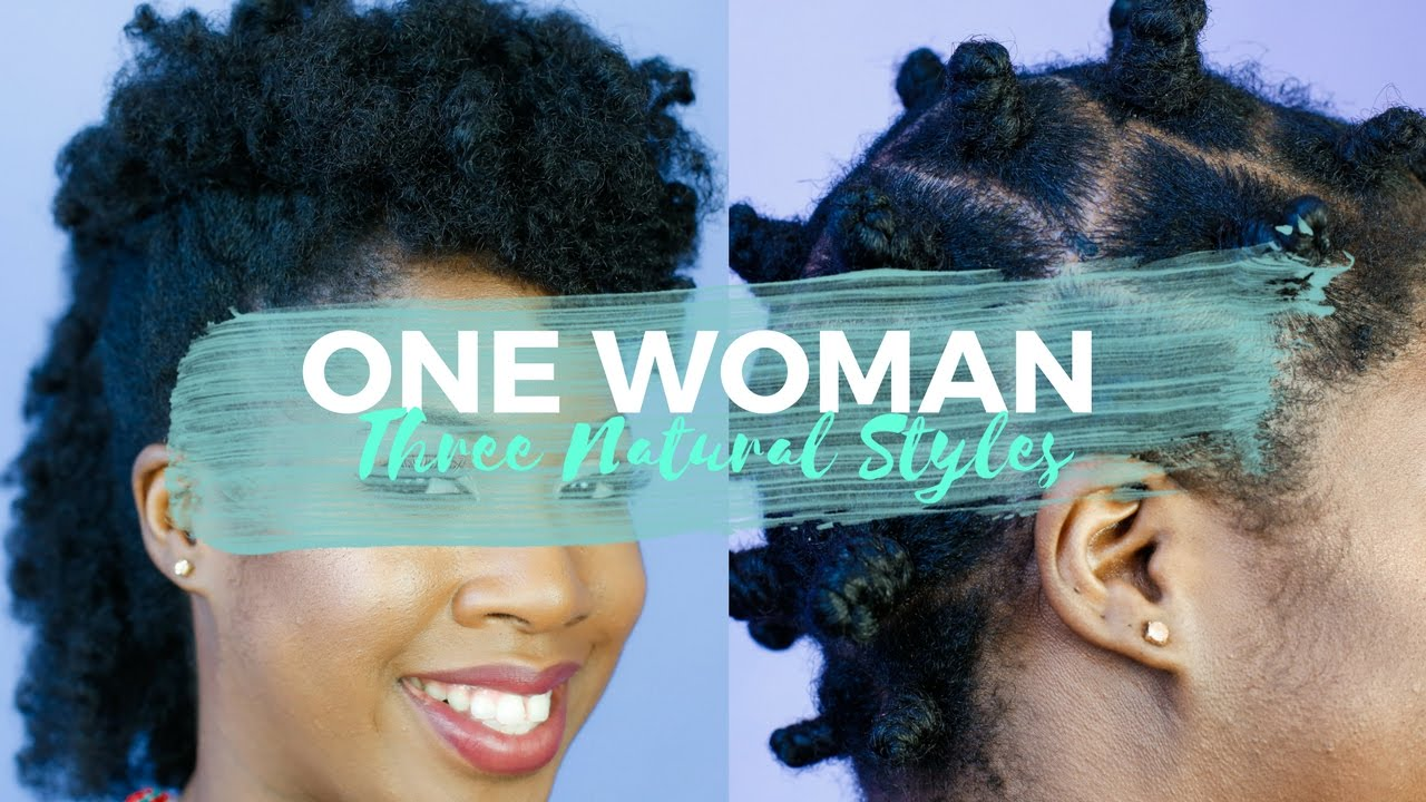 One Woman Three Gorgeous Natural Hairstyles Aunt Jackies