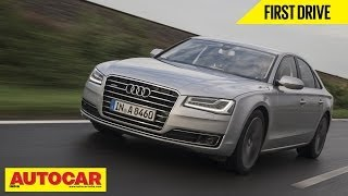 2014 Audi A8 | First Drive | Autocar India(Audi is all set to launch the new 2014 spec Audi A8 in India in the first half of 2014. We drove the updated car in Germany and came away pretty impressed., 2014-01-31T05:45:09.000Z)