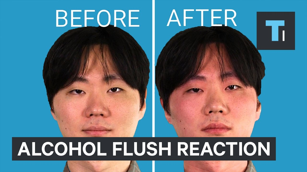Asian Red After Drinking
